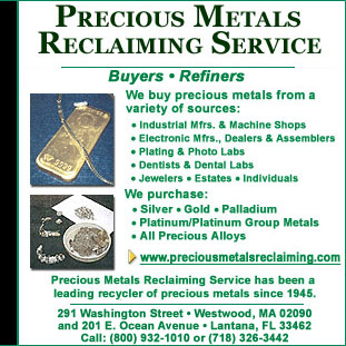 Precious Metals Reclaiming Service Co. - Gold Buyers in Florida and Gold in Massachusetts, Westwood, MA