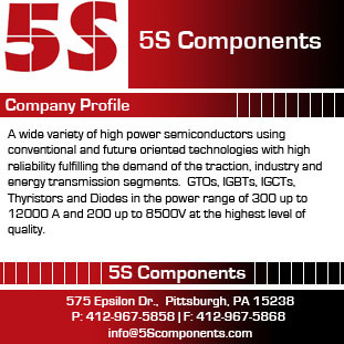 5S Components, Inc., East McKeesport, PA